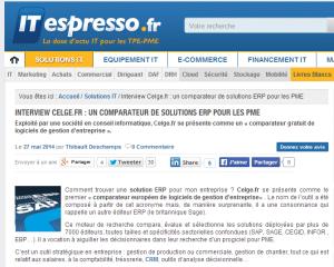 article interview sur itespresso