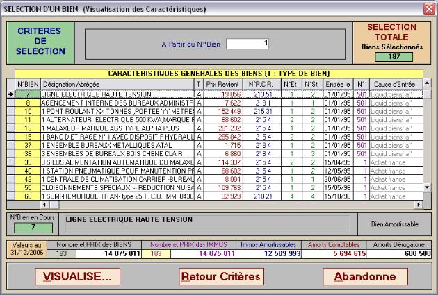 vue du logiciel
