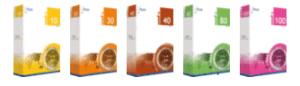 boites des 5 logiciels ERP Irium
