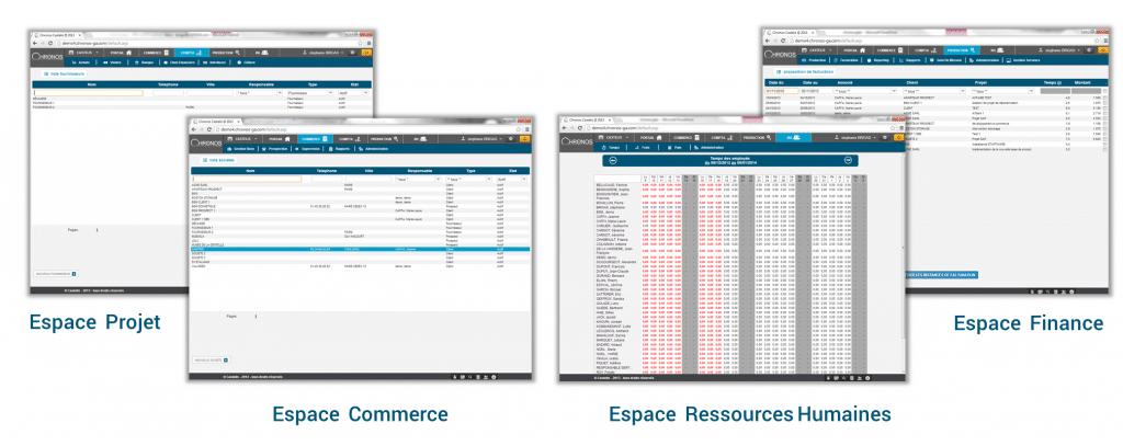copies écran du logiciel de gestion commerciale