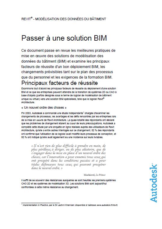 solution BIM livre blanc