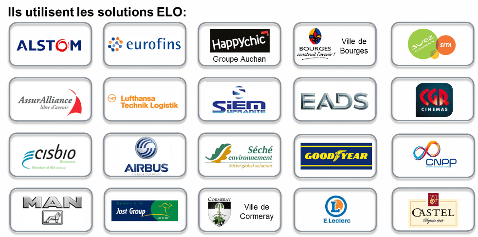 logos des clients ELO GED