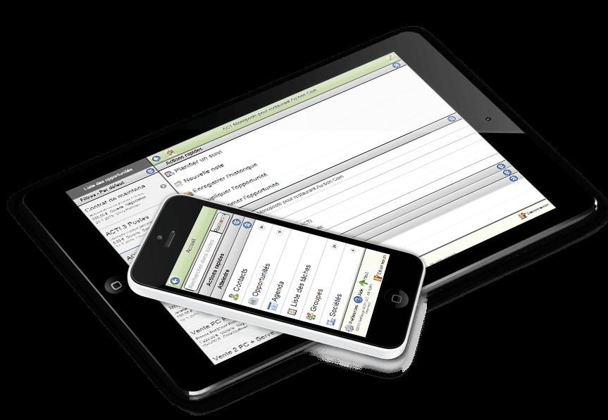Logiciel Act! compatible iPhone, IPad, tablette