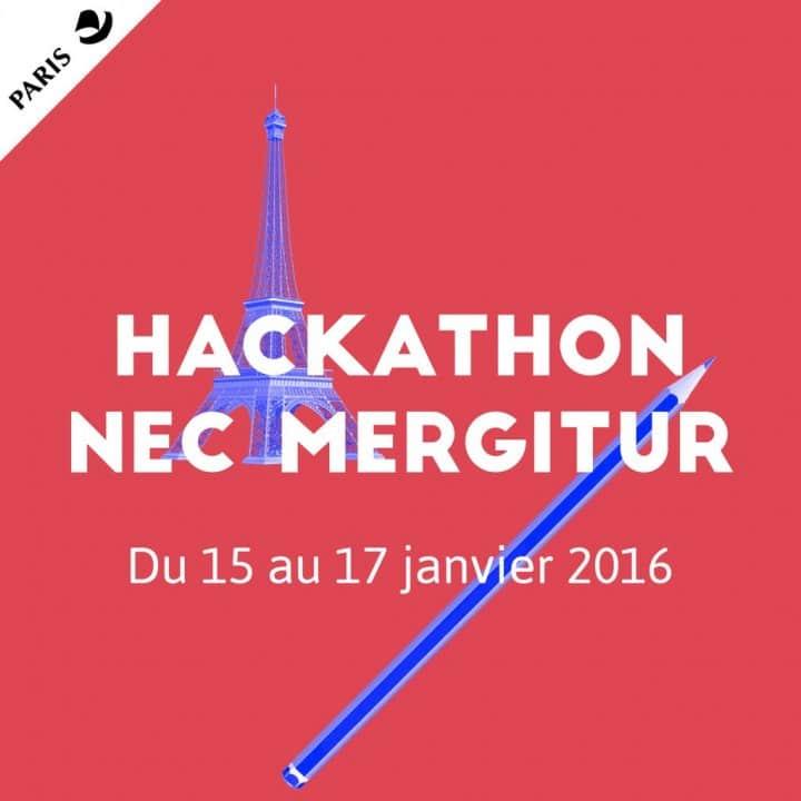 Hackathon Nec Mergitur de Paris du 15 au 17 janvier