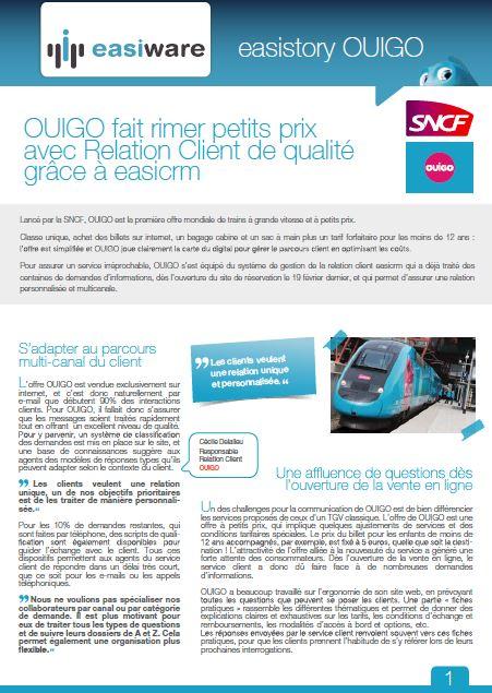 Success story OUIGO avec easiCRM