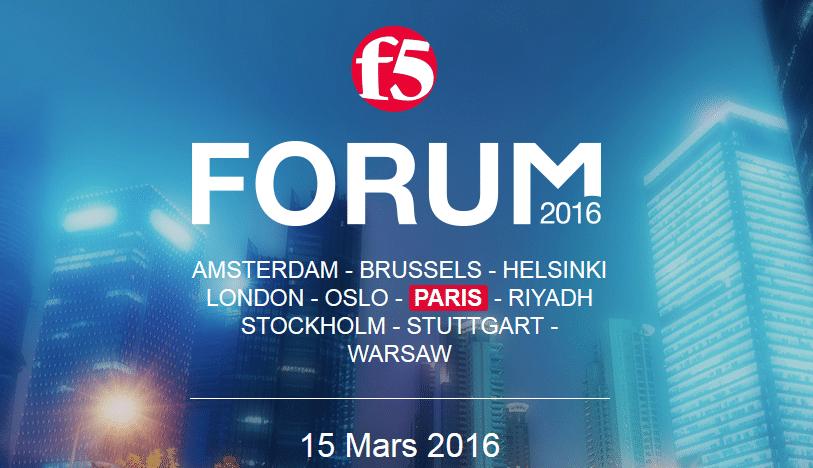 Les inscriptions sont ouverts pour le forum F5 2016