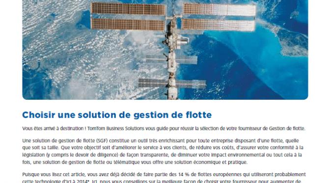 Choisir une solution de gestion de flotte
