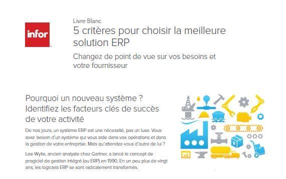 Livre Blanc : 5 critères pour choisir la meilleure solution ERP