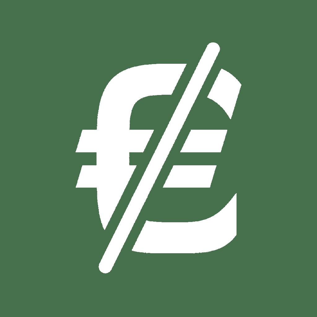Euro barré