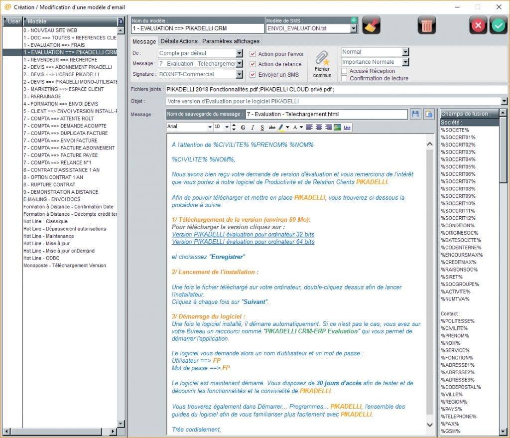logiciel modèle envoi emailing