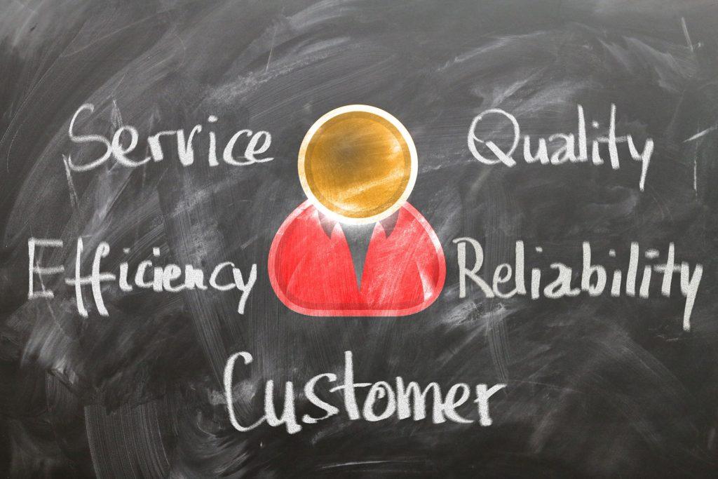 service qualité client confiance efficacité