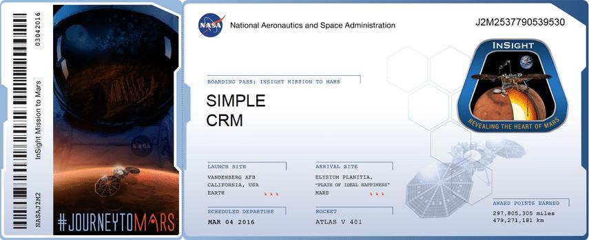 nasa logiciel Simple CRM