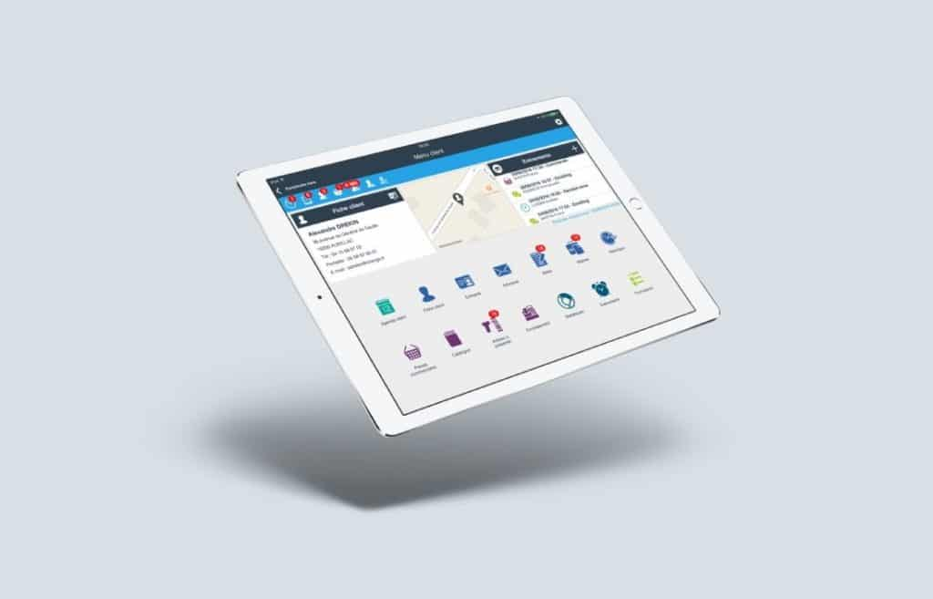 logiciel crm Divalto Tablette