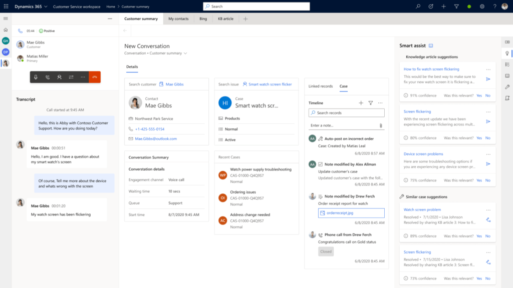 Microsoft Dynamics 365 Service à la clientèle (Customer Service)