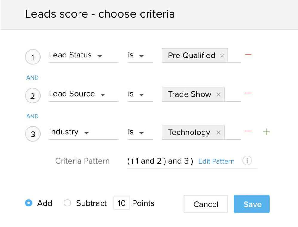 logiciel crm scoring des leads