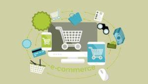 ordinateur avec tout type de e-commerce