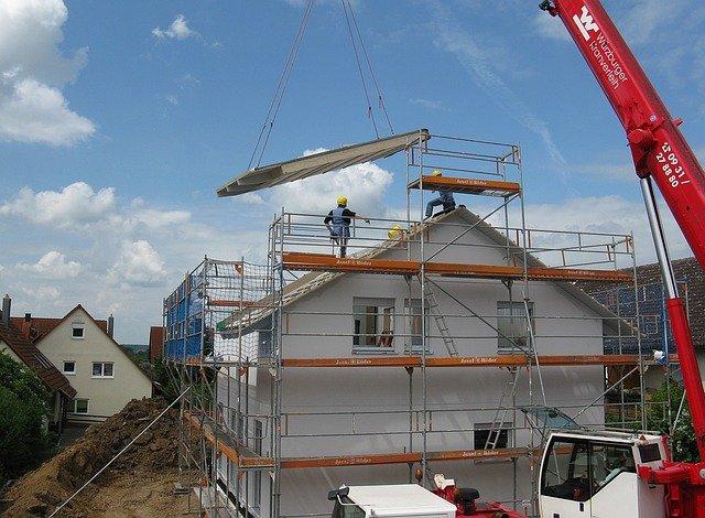 chantier de construction de maison